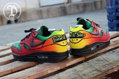"""Nike Air Max 1 """"Black Star"""" Custom"""