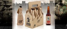 Paper bag-wrapped beers inspired by the New York squat scene, from Doss Blockos