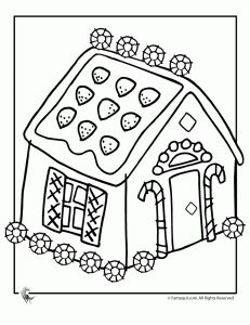 unusual gingerbread house coloring pages - photo#12
