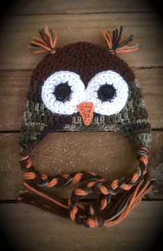 Hey, I found this really awesome Etsy listing at http://www.etsy.com/listing/164835232/camouflage-owl-beanie-0-3-months
