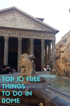 TOP 10 FREE THINGS TO DO IN ROME Travel Rome / Travel on a budget / Budget traveling / Free things to do / Travel tips / Saving money tips / Rome saving money tips / How to travel for free Travel Europe Cheap, Italy Travel Tips, Rome Travel, Travel Abroad, European Travel, Budget Travel, Travelling Tips, Travel Info, Ireland Travel