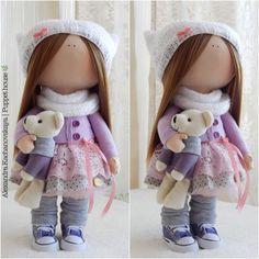 Knitwear doll READY Handmade doll Rag doll by AKPuppetHouseShop