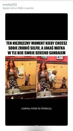 Wtf Funny, Funny Cute, Funny Memes, Hahaha Hahaha, Polish Memes, Everything And Nothing, Some Quotes, Good Mood, Pranks