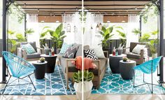 We designed a patio on two different budgets. Can you tell the spaces apart? {PHOTO: Michael Nangreaves}