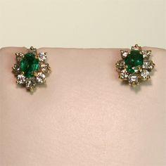 emerald & diamond huggies  {perfect for day or night}
