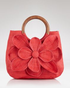 mar Y sol tote - guadeloupe flower in coral   @ bloomingdale's