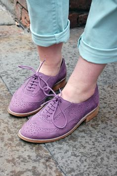 Purple Suede Wingtips. Would be a great Spring time look.