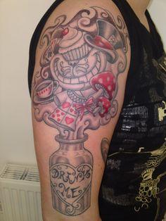 alice in wonderland | 25+ Mad Alice In Wonderland Tattoos | EntertainmentMesh