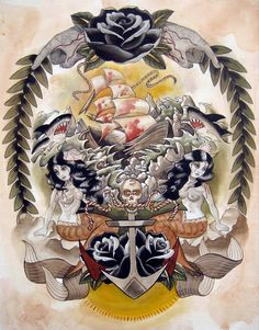 13ee8d97ce mariesena-5 Marie Sena Nautical Artwork, Tattoo Aftercare, Tattoo You, Love  Tattoos