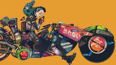 Mercenary Garage: Boneface  Illustration by Boneface  #Boneface #Akira #KanedaBike #Mercenary #MercenaryGarage