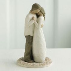 Just got this cake topper today! love it!  Willow Tree