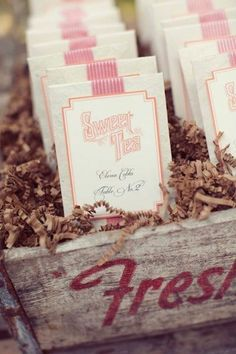 Fabulous Wedding Favors that Your Guests will Adore!:   Sweet Tea Bag Wedding Favors