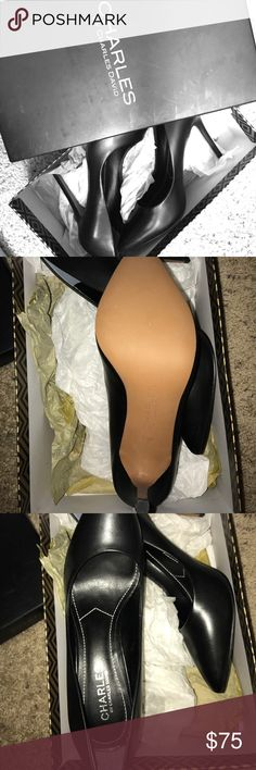 Charles David Black Pointed Toe Heel Charles David black leather pointed toe heels from Nordstroms. Never been worn, no scuffs, just doesn't fit me. No trades! Charles David Shoes Heels