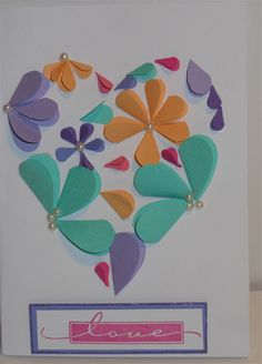 flowers in a heart - Stamp Embellish Create