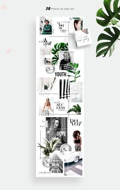 PUZZLE template by Marie T on creativemarket Canva Instagram, Instagram Feed Layout, Instagram Grid, Instagram Design, Instagram Posts, Instagram Templates, Insta Instagram, Graphisches Design, Layout Design