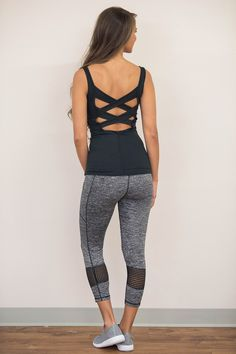 She's Going The Extra Mile Athletic Tank - The Pink Lily Yoga Girls Fitness Girls Yoga Workout Ab Wokout Athletic Outfits, Athletic Wear, Sport Outfits, Cute Outfits, Workout Attire, Workout Wear, Workout Outfits, Workout Style, Crop Top And Leggings