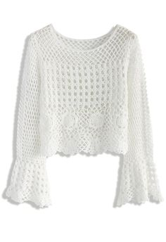 Romance of Knitted Cropped Top - New Arrivals - Retro, Indie and Unique Fashion