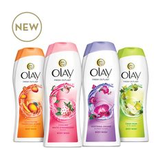 Olay body wash in general is my favorite. I recently started using the white strawberry and mint one and I love it. These all smell so good.