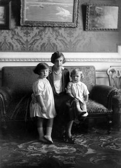pogglepoppy:  Princess Antoinette and Prince Rainier of Monaco with their mother, Princess Charlotte.