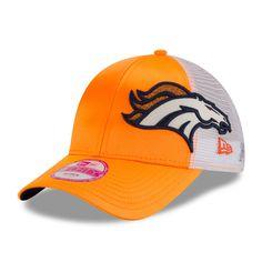 Denver Broncos New Era Women's Team Glitzer 9FORTY Adjustable Hat - Orange