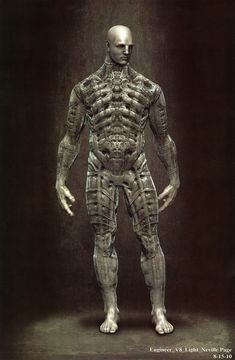 Concept design for the Engineer's pressure suit from the film Prometheus (2013).