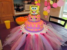 Photo 8 of 13: Sponge Bob Girly Party! This covers both my grand daughters likes...princess and SBSP...LOL