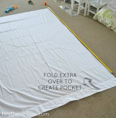 Awesome step-by-step tutorial to make your own duvet cover even if your fabric…
