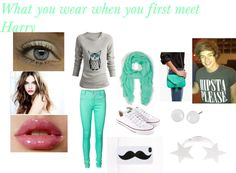 """""""Preference #14 - What you wear when you first meet him (Harry)."""" by it-became-a-dedication ❤ liked on Polyvore"""