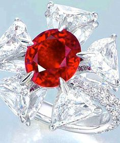 Edmond Chin ruby and diamond ring.