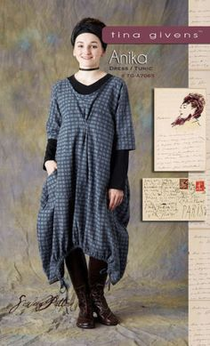 ANIKA-Dress-Tunic-Sewing-Pattern-by-Tina-Givens-TG-A7065-LAGENLOOK-STYLE