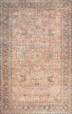 Antique Oversize Persian Kerman Rug, Country of Origin: Persia, Circa Date: Early 20th Century 13 ft 7 in x 21 ft 6 in (4.14 m x 6.55 m)