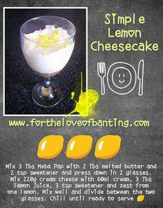Cheesecake Banting Desserts, Banting Recipes, Lemon Cheesecake, Keto, Lchf, Healthy Lifestyle, Recipies, Low Carb, Baking