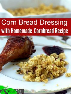 Diabetic friendly Cornbread dressing, low glycemic with sausage and pecans by Spinach Tiger