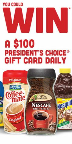 Enter the Daily President's Choice Gift Card #Giveaway for #free #groceries