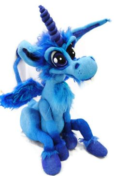 "Needle Felted ""Happy"" Blue Unicorn by Tanglewoodthicket, via Flickr"