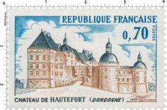 Timbre : CHÂTEAU DE HAUTEFORT (DORDOGNE) | 1969