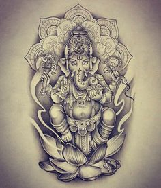 Tattoo Mandala Elephant Ganesh 31 New Ideas Tattoo Mandala Elephant Ganesh 31 New Ideas Kunst Tattoos, Neue Tattoos, Tattoo Drawings, Body Art Tattoos, Arm Tattoos, Sleeve Tattoos, Ganesh Tattoo, Hindu Tattoos, Mandala Tattoo