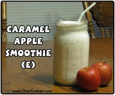 """Everyone loved the Apple Pie Smoothie (E) from last week, so you are going to love this one too! I had the brilliant idea of making another apple smoothie…except this one is a Caramel Apple Smoothie! Since you use a whole apple in this recipe, it is considered an """"E"""" meal for those of you […]"""