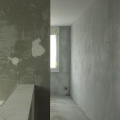 light grey natural lime plaster on the walls, new construction of a family house Plaster, New Construction, Lime, Bathtub, Walls, Natural, Grey, House, Kunst