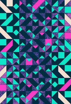 geometric color pop by Vasare Nar #pattern #geometric