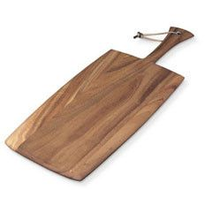 When treated correctly, a wooden cutting board will last for years. This Acacia wood version is extra large with plenty of room for slicing and serving. Large Rectangular Paddleboard Ironwood Gourmet $26.05