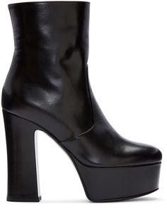 Saint Laurent Black Platform Candy Boots