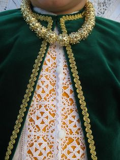 Lace from Pag on costume #croatia #hrvatska