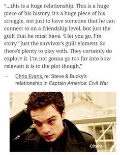 "This is a huge relationship."" - Chris Evans #civilwar #iamnotready #iwillneverbeready"
