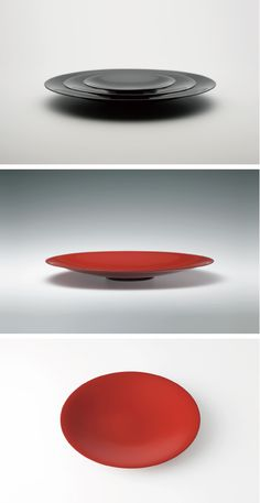 Delicate and yet striking in its elegant simplicity: #Fuyu Sara Floating Dish by White Rabbit Express   #design #japan