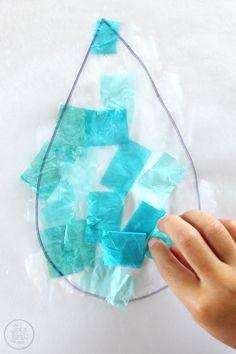 April Showers DIY Suncatcher Craft via www.thegoldjellybean.com