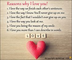 There are many ways to express your love, and we've collected 50 of our favorite reasons. Here is a list of 50 Reasons to Love that you can send to your beloved and let them know how you feel. Let Me Love You Quotes, Reasons Why I Love You, Because I Love You, Love Yourself Quotes, You Gave Up, Told You So, Happy Love, My Love, Love You Boyfriend