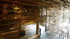 Canberra, Australia. The lobby entrance of Hotel Hotel in New Acton.
