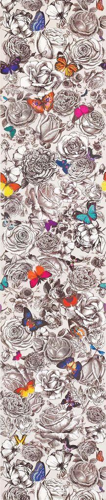Fine Decor Wallcovering Floral w// Purple /& Pink Outling Wallpaper Border