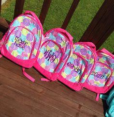 Personalize backpack monogrammed book bag back to by skkilby21
